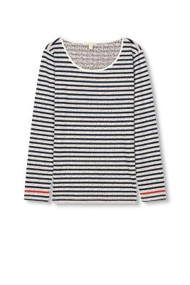 Esprit / Printed long sleeve top in 100% cotton