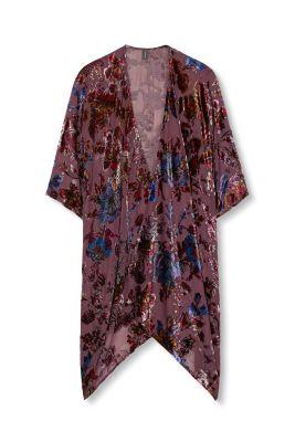 Esprit kimono en chiffon fleurs en velours acheter for Acheter fleurs en ligne