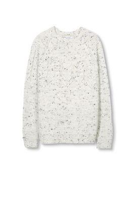 Esprit pull grosse maille motifs laine m lang e acheter sur la boutique en ligne - Plaid grosse maille laine ...