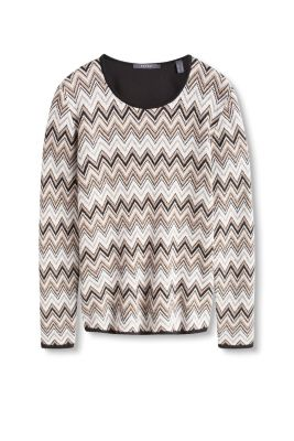 Knitted Jumper Pattern : Esprit - Knitted jumper with zigzag pattern at our Online Shop