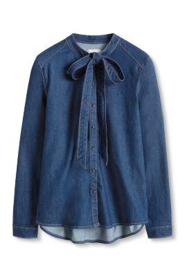 esprit jeans bluse mit verspielter schluppe im online. Black Bedroom Furniture Sets. Home Design Ideas
