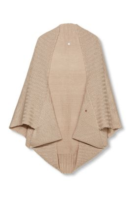 Knitting Pattern For Chunky Poncho : edc - Open chunky knit poncho at our Online Shop