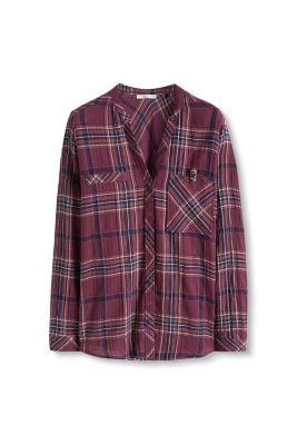 edc - Blouse met oprolbare mouwen kopen in de online shop: www.esprit.be/blouse-met-oprolbare-mouwen-096CC1F005