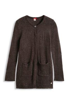 esprit lang vest met mohair kopen in de online shop. Black Bedroom Furniture Sets. Home Design Ideas