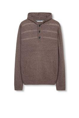 esprit pull capuche en maille teneur en laine acheter sur la boutique en ligne. Black Bedroom Furniture Sets. Home Design Ideas