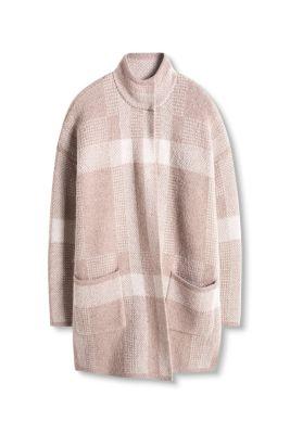 esprit geruit lang vest met drukknopen kopen in de online shop. Black Bedroom Furniture Sets. Home Design Ideas