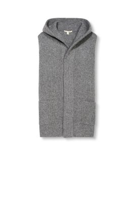 esprit lang vest met capuchon kopen in de online shop. Black Bedroom Furniture Sets. Home Design Ideas
