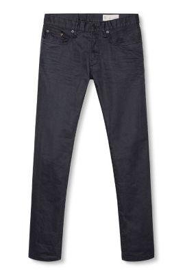esprit schwarze stretch jeans aus coated denim im online shop kaufen. Black Bedroom Furniture Sets. Home Design Ideas