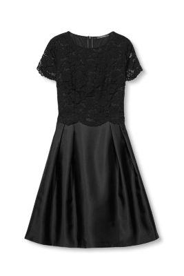 esprit glamour ses kleid mit top aus spitze im online. Black Bedroom Furniture Sets. Home Design Ideas