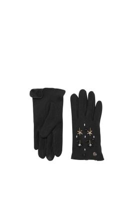 esprit touchscreen fleece handschuhe mit glanz im online. Black Bedroom Furniture Sets. Home Design Ideas