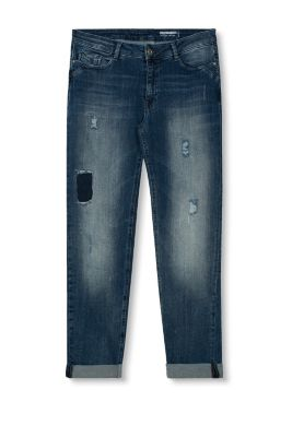 edc destroyed jeans met boyfriend look kopen in de online shop. Black Bedroom Furniture Sets. Home Design Ideas
