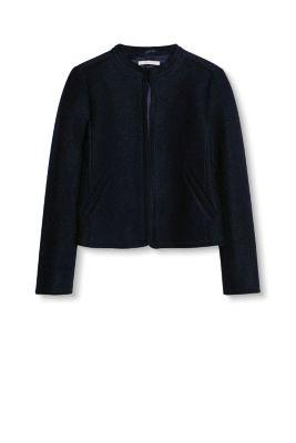 esprit veste courte ouverte en laine bouillie acheter sur la boutique en ligne. Black Bedroom Furniture Sets. Home Design Ideas