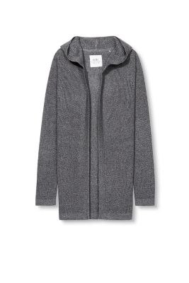 edc - Long ribbed knit cardigan + a hood at our Online Shop
