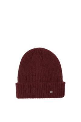 Esprit - Ribbed, soft knit beanie in a double layer at our Online Shop