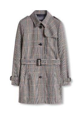 esprit manteau carreaux style trench coat acheter sur la boutique en ligne. Black Bedroom Furniture Sets. Home Design Ideas