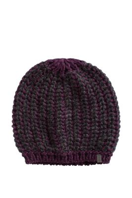 Knitting Pattern For Mohair Beanie : Esprit - chunky knit beanie with mohair and wool at our Online Shop