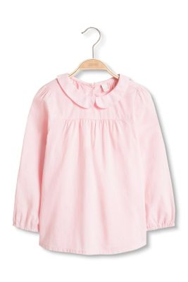 Esprit peter pan collar blouse 100 cotton at our for White cotton shirt peter pan collar