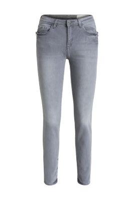 esprit graue stretch denim mit zipper taschen im online shop kaufen. Black Bedroom Furniture Sets. Home Design Ideas