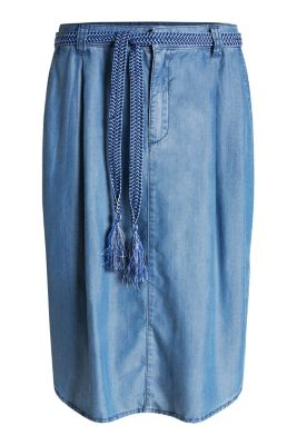 edc floaty lyocell midi skirt at our shop