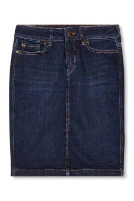 esprit jupe crayon en jean fonc stretch acheter sur la boutique en ligne. Black Bedroom Furniture Sets. Home Design Ideas
