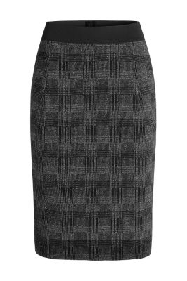 esprit check knit midi length pencil skirt at our
