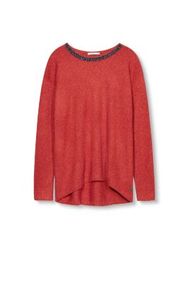 Edc - Wollen trui met sierkraaltjes kopen in de online shop