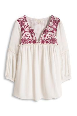 esprit zarte bluse mit bl ten stickerei im online shop kaufen. Black Bedroom Furniture Sets. Home Design Ideas
