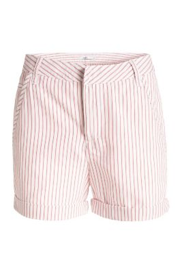Gestreifte Tapeten Esprit : edc – Gestreifte Shorts, Baumwolle/Lyocell im Online Shop kaufen