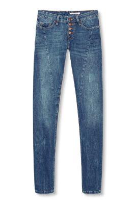 Edc   jeans met figuurnaden en knopen kopen in de online shop