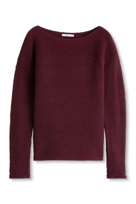 edc - Geribde trui met wol en alpaca kopen in de online shop