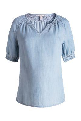 esprit flie ende bluse mit stickerei im online shop kaufen. Black Bedroom Furniture Sets. Home Design Ideas