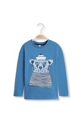 esprit long sleeve bear print t shirt 100 cotton at our online shop. Black Bedroom Furniture Sets. Home Design Ideas