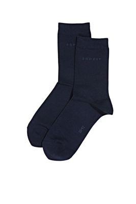 plain coloured fine knit socks