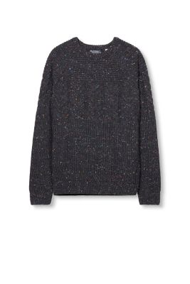 Esprit - Pattern-mix, wool-mix chunky knit jumper at our Online Shop