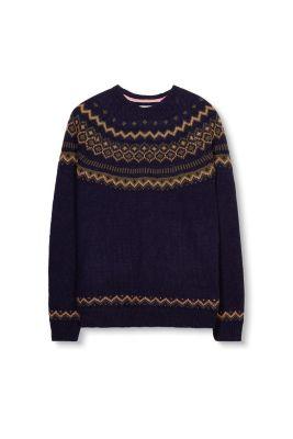 Esprit - Nordic Pulli aus warmem Strick mit Wolle im Online Shop ...